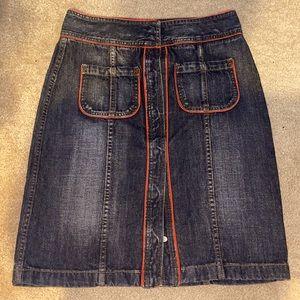 DKNY denim pencil skirt